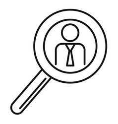 man magnify glass icon outline style vector image
