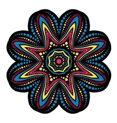 Mandala tribal ethnic ornament vector