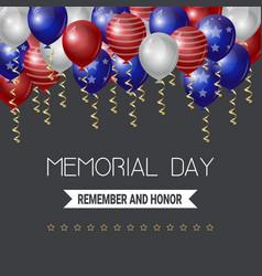 memorial day usa greeting card wallpaper yellow vector image