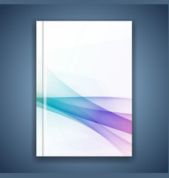 minimalistic abstract hipster wave folder layout vector image