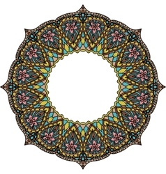 Multicoloured frame mandala Design element in the vector