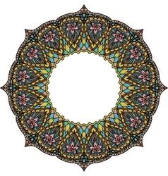 Multicoloured frame mandala Design element in the vector image