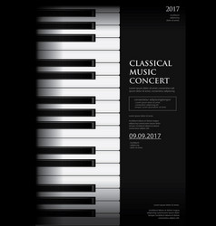 Music grand piano poster vector
