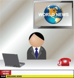 News desk vector