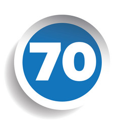 Number seventy icon vector