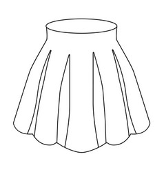 Orange women s light summer skirt with pleats vector