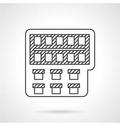 Painting monochrome line icon vector image