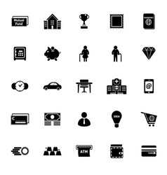 Personal financial icons on white background vector image