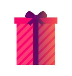 present and christmas elegance vector image