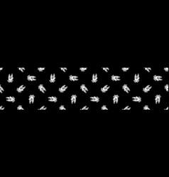 Punk rock hand symbol monochrome seamless vector