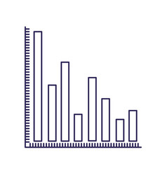 purple line contour of column chart vector image