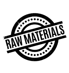 Raw Materials rubber stamp vector image