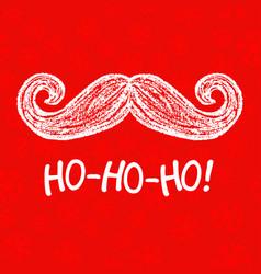 Santa moustache and ho-ho-ho words vector