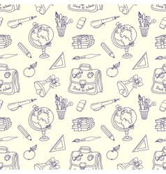 Scribble in a writing-books seamless pattern vector