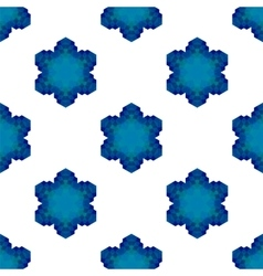 Seamless Blue Snowflake Pattern vector