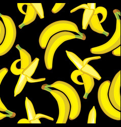 seamless pattern background with bright bananas vector image