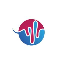 sound wave ilustration logo icon vector image