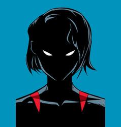 superheroine portrait silhouette vector image