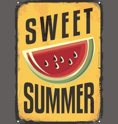 sweet summer vintage sign vector image