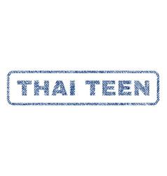 Thai teen textile stamp vector