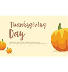 Thanksgiving day with pumpkin background vector