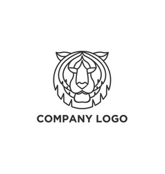 tiger face logo designs vector image
