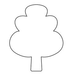 Tree the black color icon vector