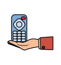 tv remote control icon vector image