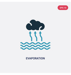 Two color evaporation icon from technology vector