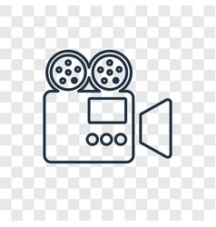 Video concept linear icon isolated on transparent vector