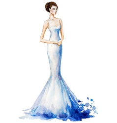 Watercolor fashion vector image