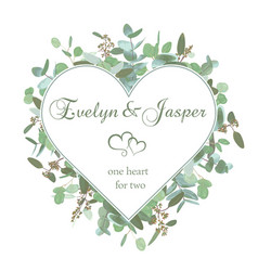 wedding invitation flyer square valentine heart vector image