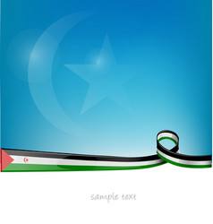 western sahara ribbon flag on blue sky background vector image