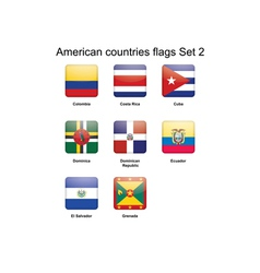 American countries flags Set 2 vector image vector image