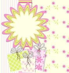 artistic card vector image