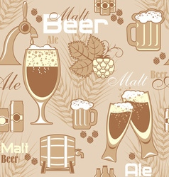 beer seamless background vector image vector image