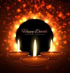 colroful diwali season greeting card design vector image