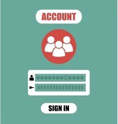 Member Login Form into account managment page ui vector image