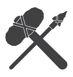 stone tools icon vector image