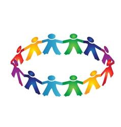 Teamwork people logo vector image vector image