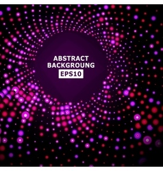 Bright Dotted Background Geometric Flash vector image vector image