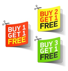 Buy 1 Get 1 Free promotional coupon vector image