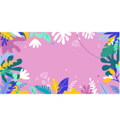 colorful vibrant colors palm leaves background vector image vector image