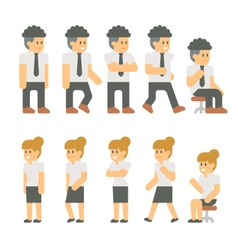 Flat design business people set vector image vector image