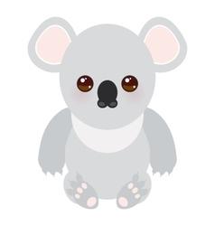 Funny cute koala on white background vector image vector image