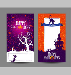 halloween holidays design templates with place for vector image vector image