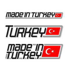 made in turkey vector image vector image