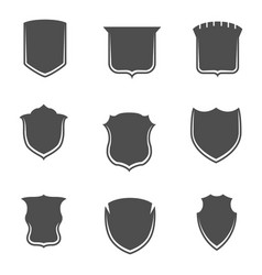 shields shapes collection on white background vector image
