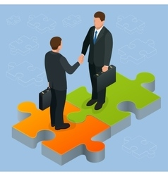 Business and finance concept Handshake isometric vector image vector image