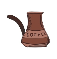 Colored doodle Turk to brew coffee vector image